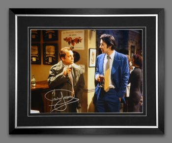 "David Jason Hand Signed Only Fools & Horses 12x16"" Photograph in a Frame: B"