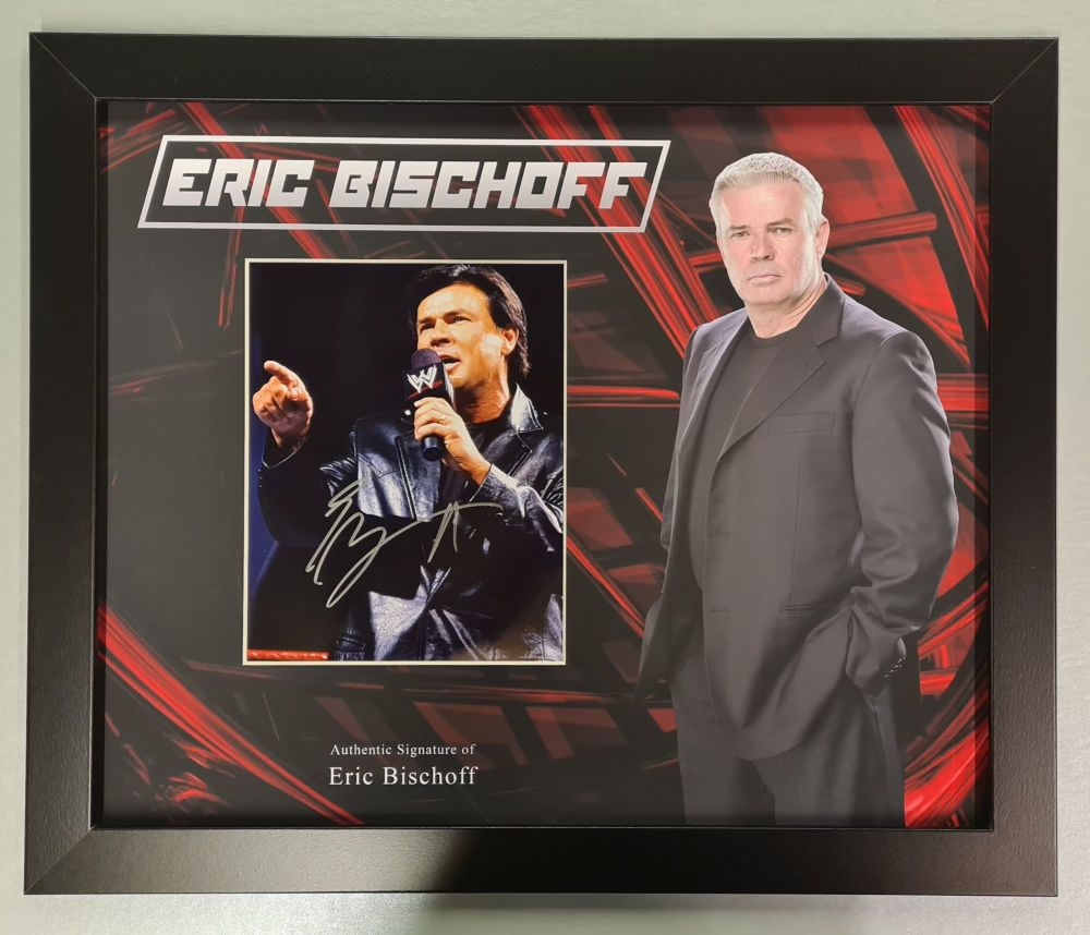 Eric Bischoff Wrestling Photograph In A Framed Display