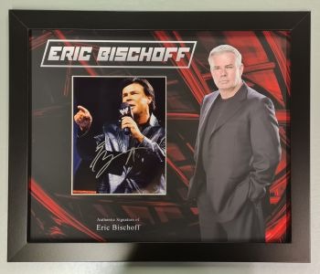 """Eric Bischoff Hand Signed Wrestling 10x8"""" Photograph in a Framed Presentation"""