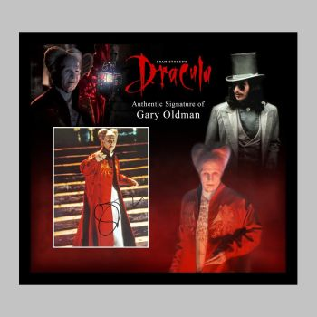 """Gary Oldman Hand Signed Dracula 10x8"""" Photograph in a Framed Presentation No.2"""