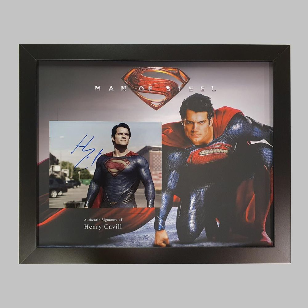Henry Cavill Superman Photograph In A Framed Display