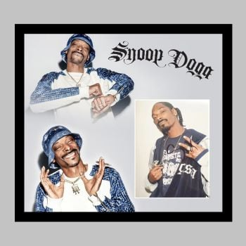 """Snoop Dogg Hand Signed 10x8"""" Photograph in a Framed Presentation"""