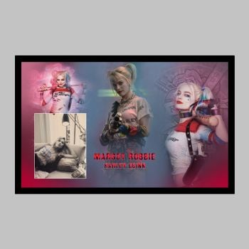 """Margot Robbie Hand Signed 10x8"""" Photograph in a Framed Presentation"""