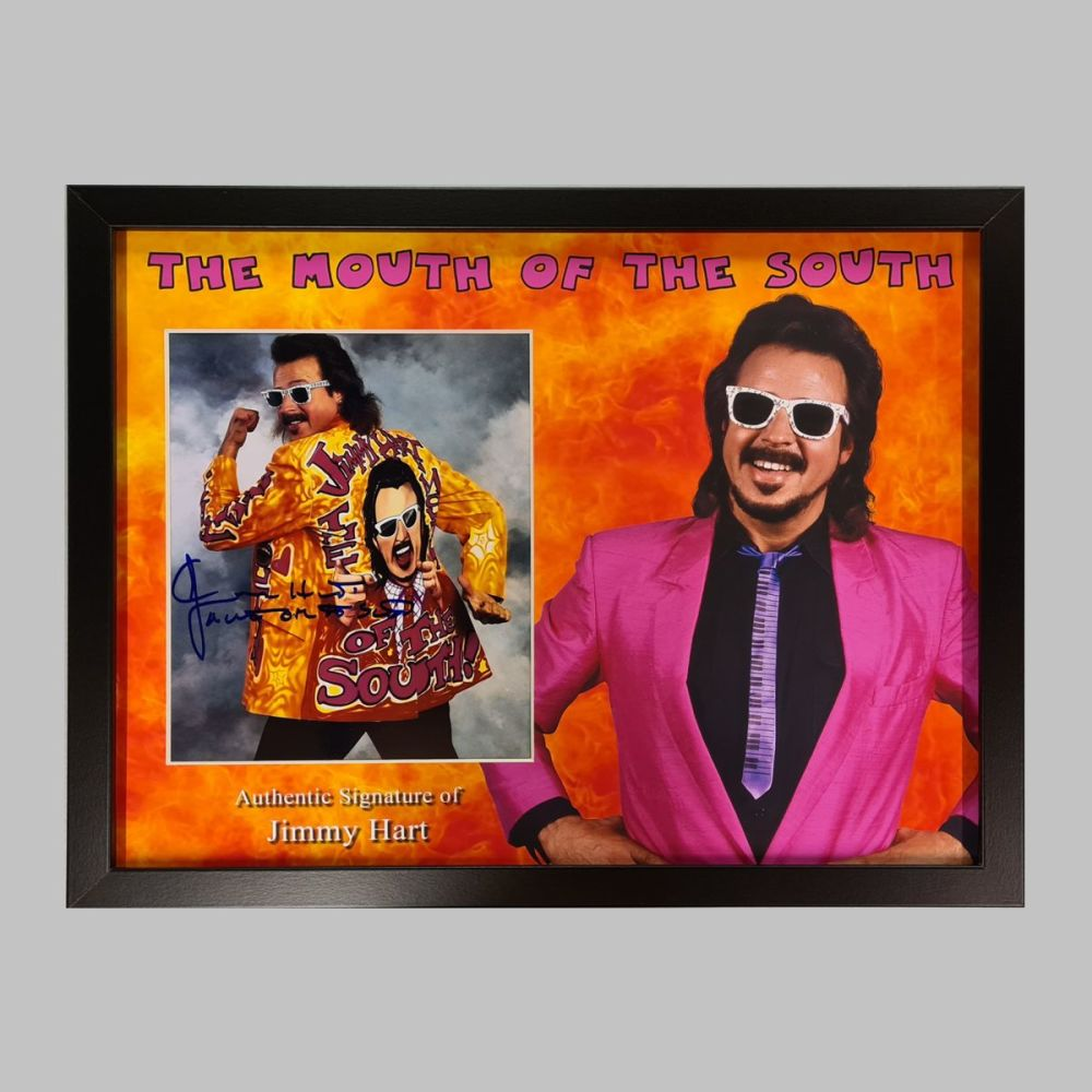 Jimmy Hart Hand Signed Wrestling 10x8