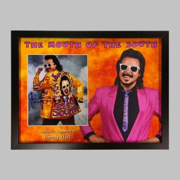 """Jimmy Hart Hand Signed Wrestling 10x8"""" Photograph in a Framed Presentation"""