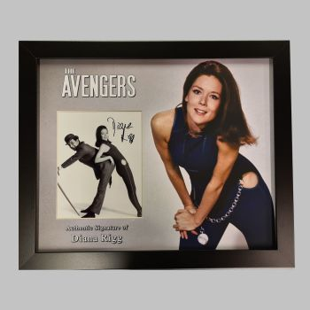 "Dame Diana Rigg Hand Signed Avengers 10x8"" Photograph in a Framed Presentation: A"