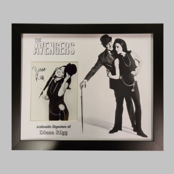 "Dame Diana Rigg Hand Signed Avengers 10x8"" Photograph in a Framed Presentation: B"