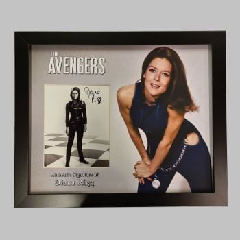 "Dame Diana Rigg Hand Signed Avengers 10x8"" Photograph in a Framed Presentation: C"