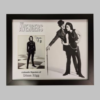 "Dame Diana Rigg Hand Signed Avengers 10x8"" Photograph in a Framed Presentation: D"
