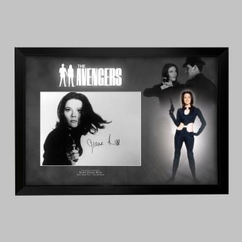 "Dame Diana Rigg Hand Signed Avengers 12x16"" Photograph in a Framed Presentation: A"