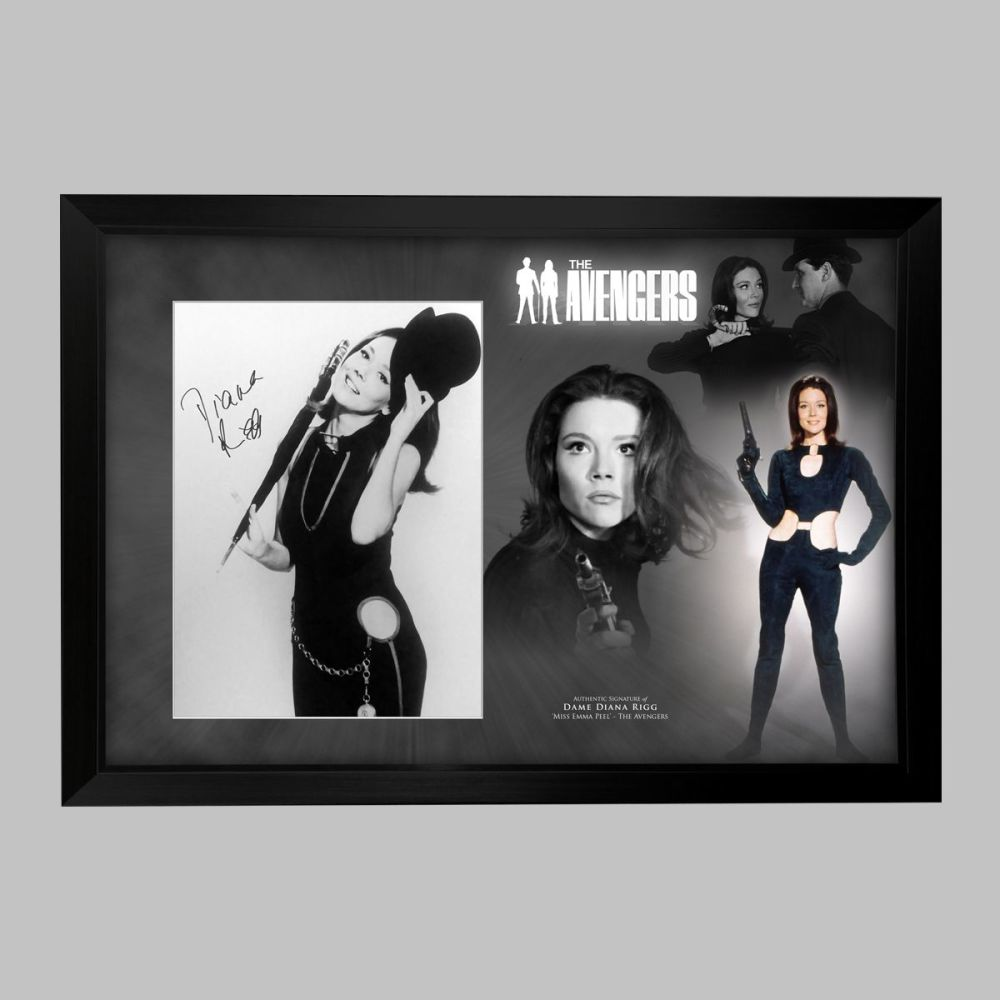 Dame Diana Rigg Hand Signed Avengers 12x16
