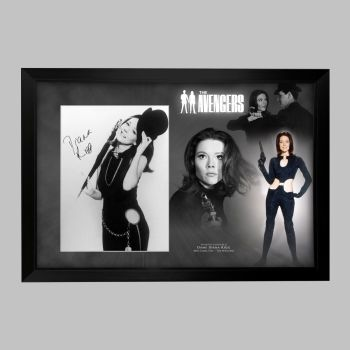 "Dame Diana Rigg Hand Signed Avengers 12x16"" Photograph in a Framed Presentation: B"
