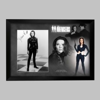 "Dame Diana Rigg Hand Signed Avengers 12x16"" Photograph in a Framed Presentation: C"