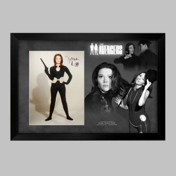 "Dame Diana Rigg Hand Signed Avengers 12x16"" Photograph in a Framed Presentation: D"
