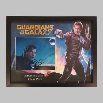"Chris Pratt Hand Signed Guardians of the Galaxy 10x8"" Photograph in a Framed Presentation"