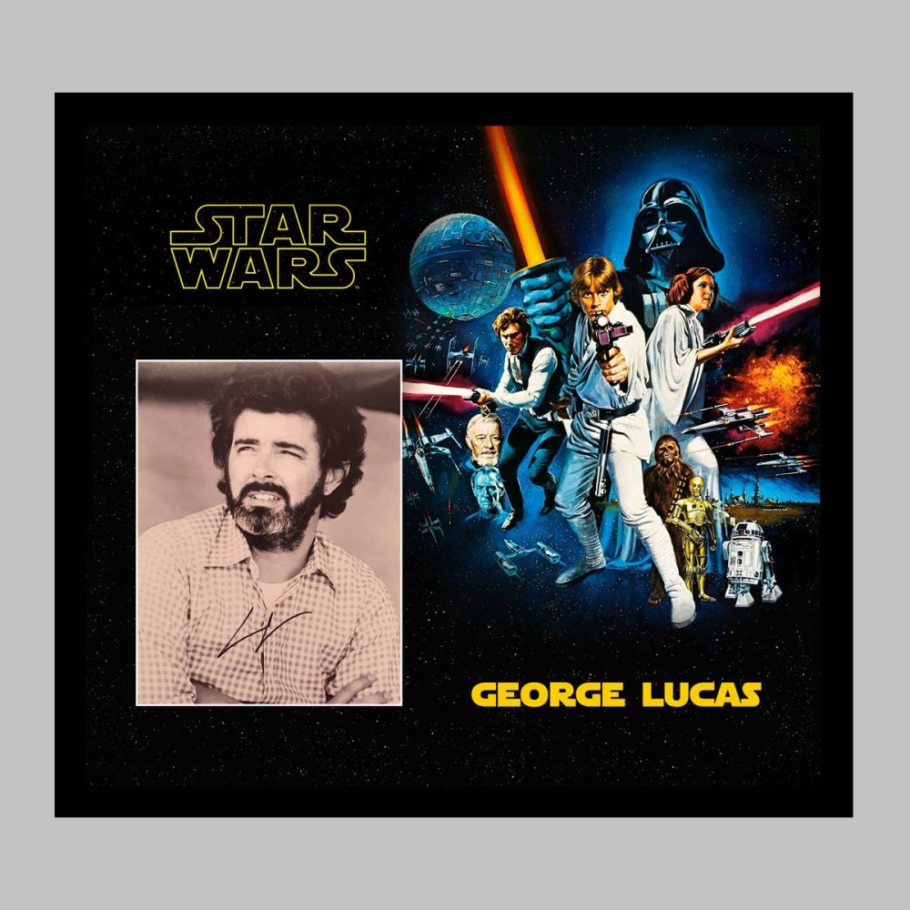George Lucas Hand Signed 10x8