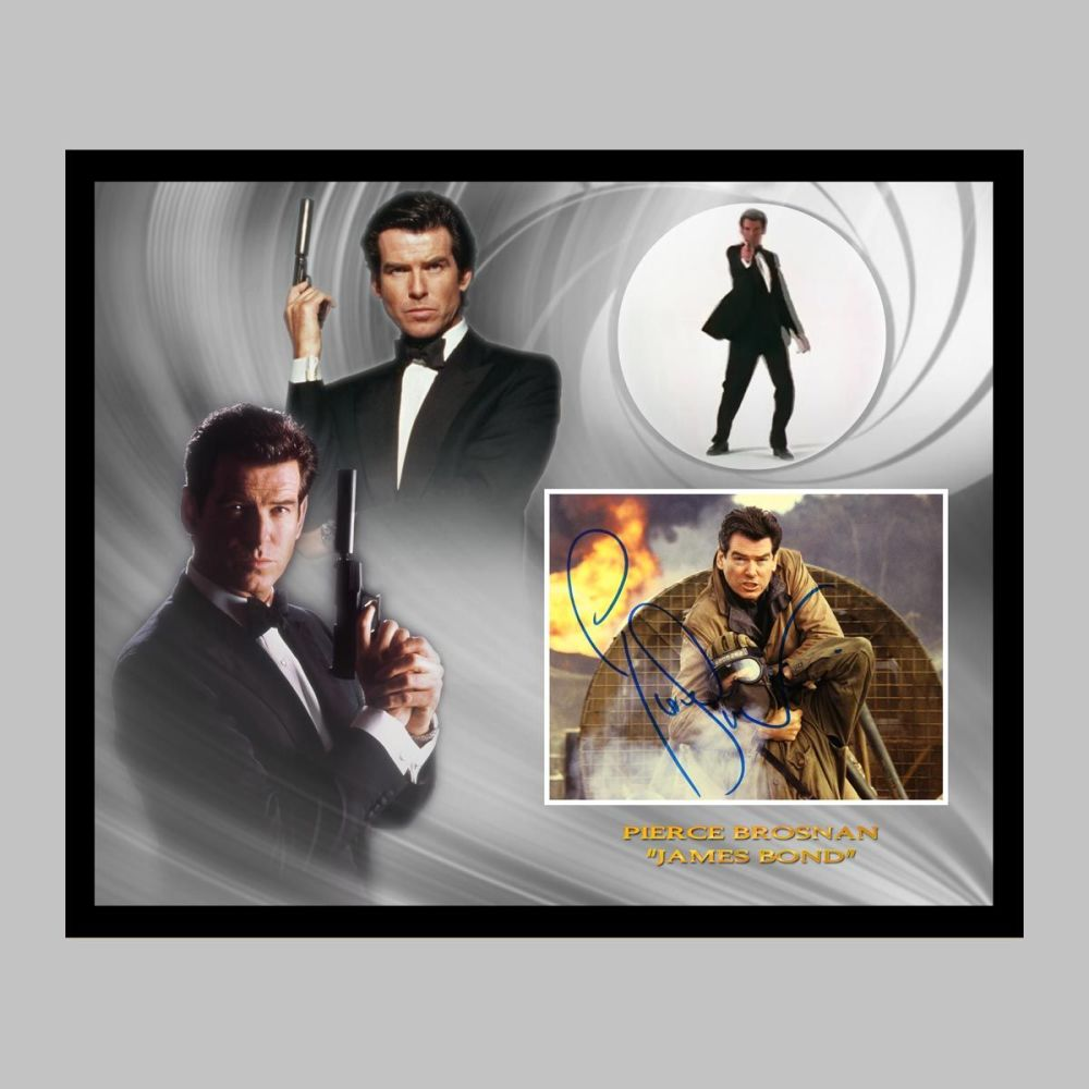 Pierce Brosnan Hand Signed James Bond 10x8
