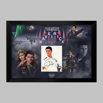"""Tom Cruise Hand Signed Top Gun 10x8"""" Photograph in a Framed Presentation"""