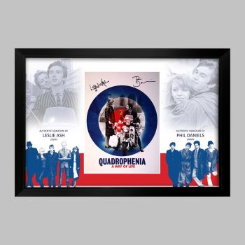 Quadrophenia Double Signed Photograph in a Framed Presentation