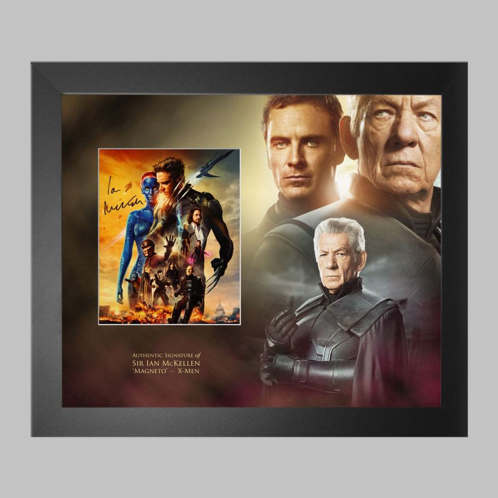 Ian McKellen Hand Signed X-Men 10x8