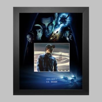 """J.J. Abrams Hand Signed 10x8"""" Photograph in a Framed Presentation"""