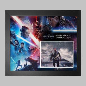 "John Boyega Hand Signed Star Wars 10x8"" Photograph in a Framed Presentation: B"