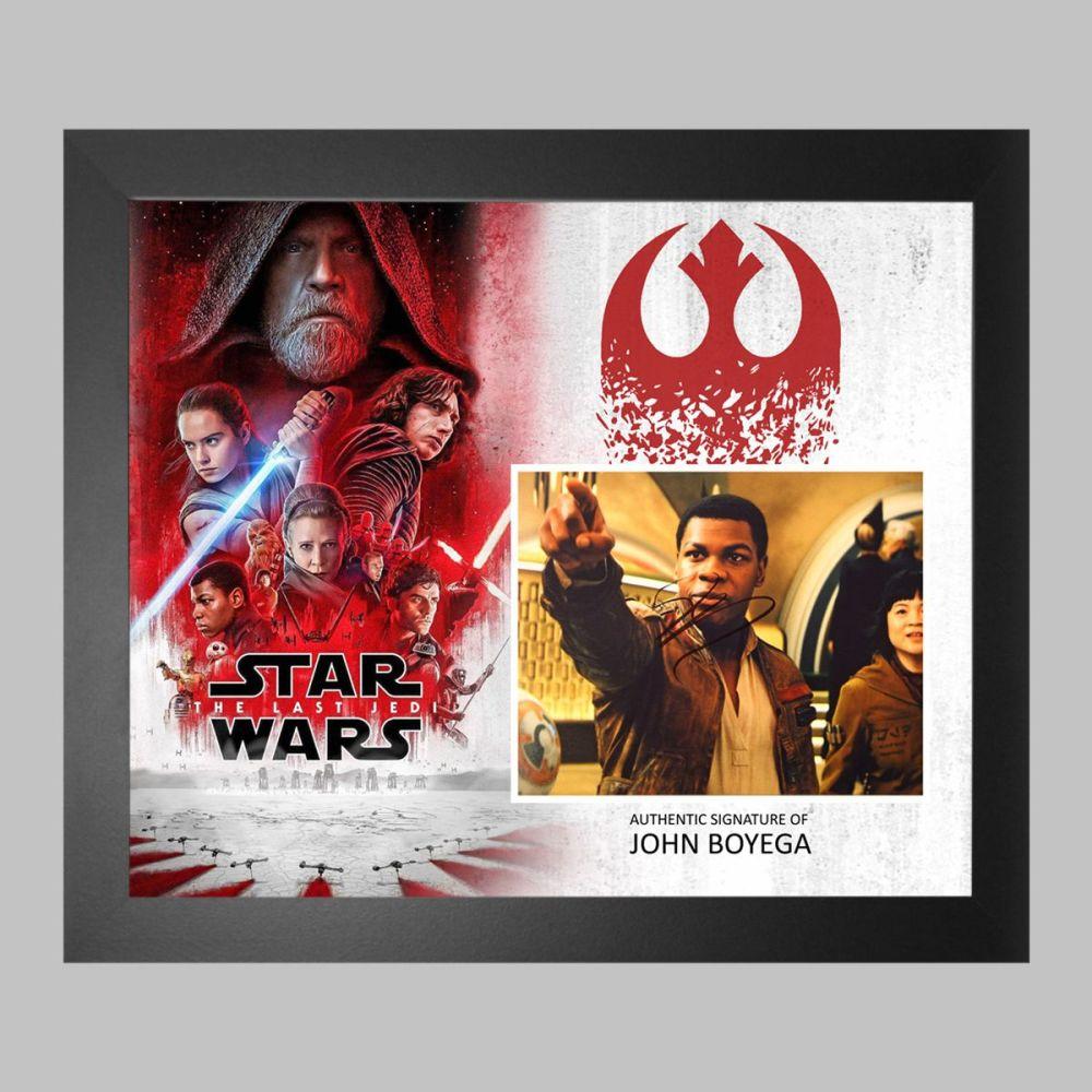 John Boyega Hand Signed Star Wars 10x8