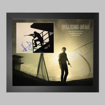 """Andrew Lincoln Hand Signed The Walking Dead 10x8"""" Photograph in a Framed Presentation"""
