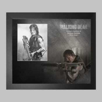 """Norman Reedus Hand Signed The Walking Dead 10x8"""" Photograph in a Framed Presentation"""