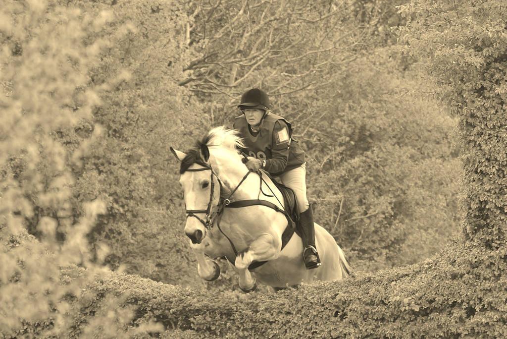 Margaret jumping Darcy
