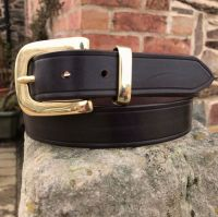 LEATHER BELT WITH FLAT WEST END BUCKLE