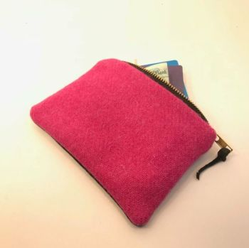 MIDI PURSE IN HARRIS TWEED & LEATHER