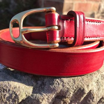 LEATHER BELT WITH STIRRUP BUCKLE