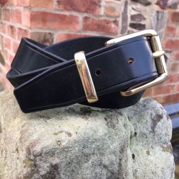 ENGLISH BRIDLE LEATHER BELT WITH WEST END BUCKLE