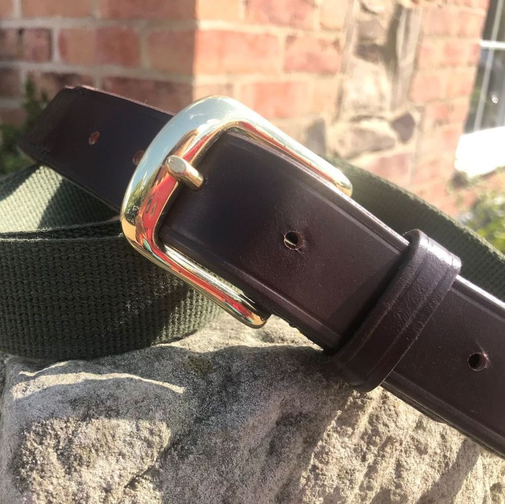 Leather & Heavy Cotton Web Belt