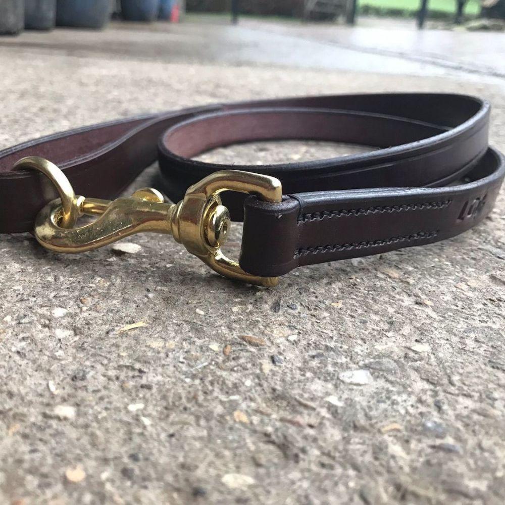 English Leather Dog Lead