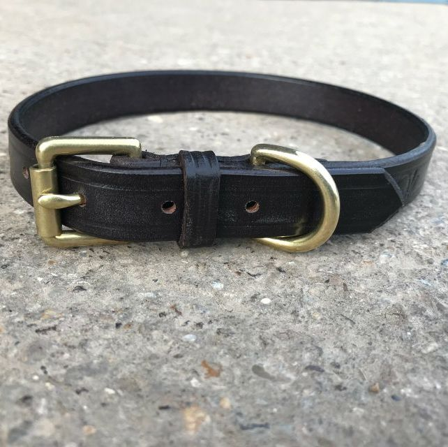Leather Collar With Roller Buckle