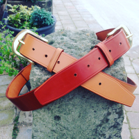 LEATHER BELT WITH BRISTOL BUCKLE