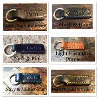 HAND STITCHED LEATHER KEY RINGS