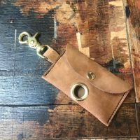 TAN SUEDE POSH POOP BAG HOLDER