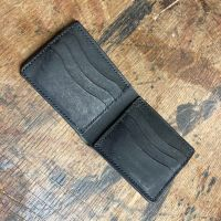 Black Hand Stitched Italian Leather Wallet