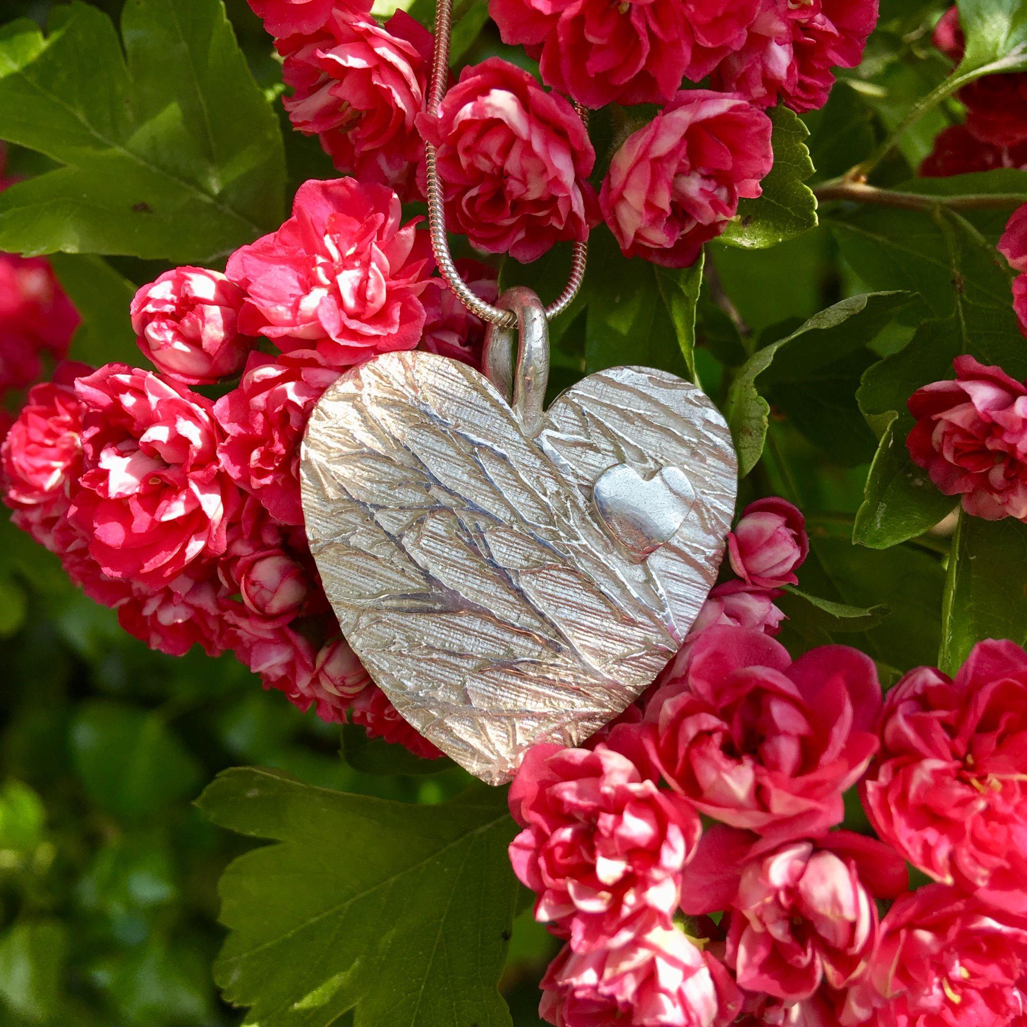 Large silver heart pendant
