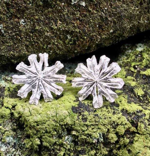 Silver Poppy Head Earrings