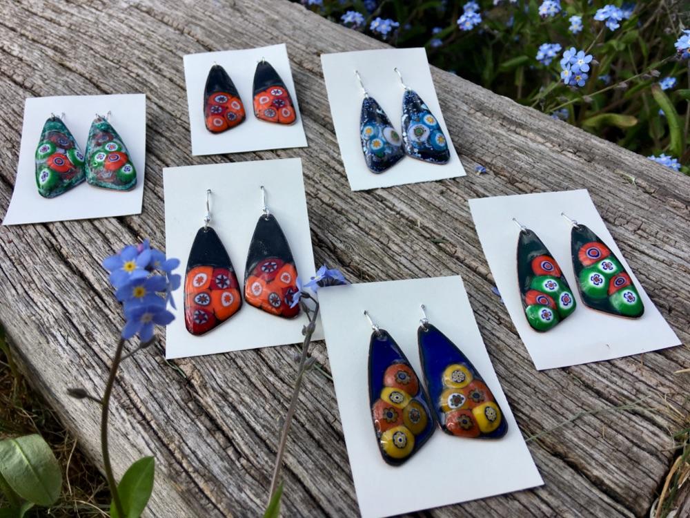 Large Patterned Earrings