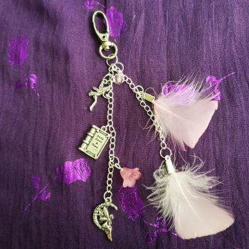 Feather Sentiment Bag Charm
