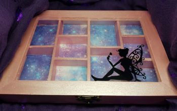 Fairy compartment box  and charms