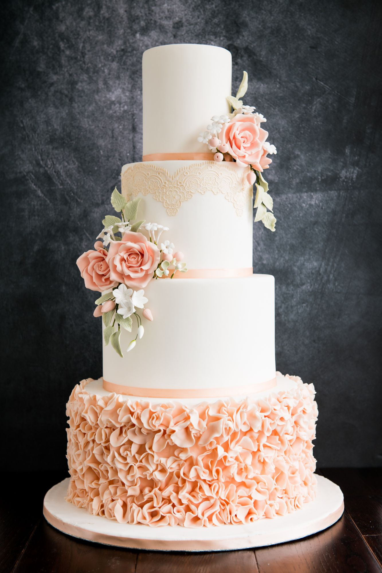 stylish wedding cake