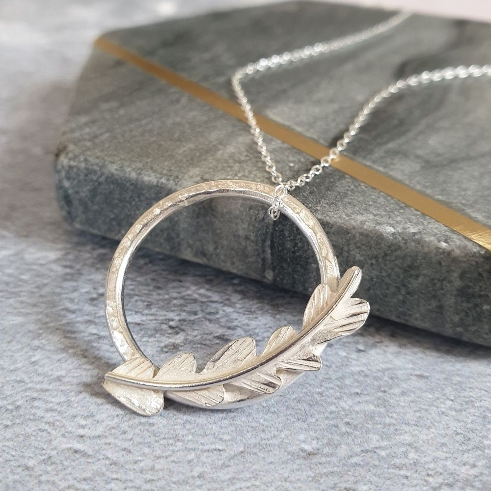Sterling Silver Fern Necklace