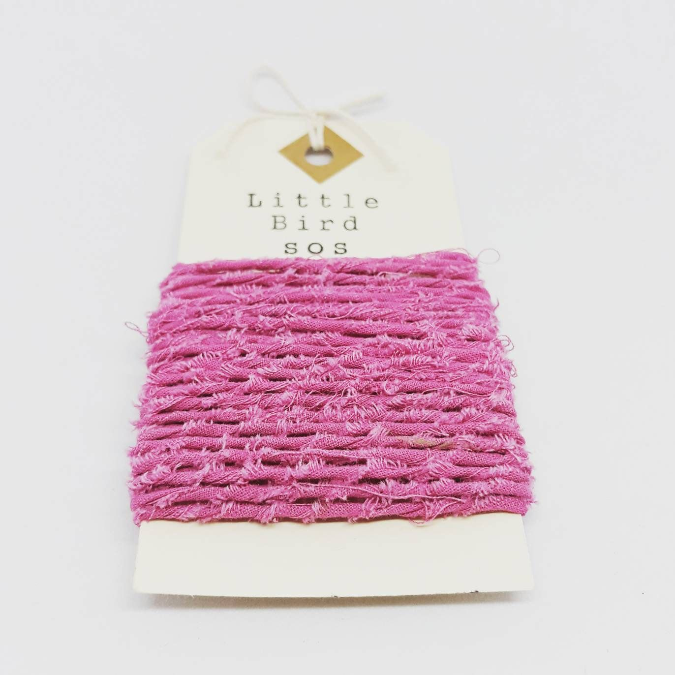 Pink Recycled Cotton Yarn