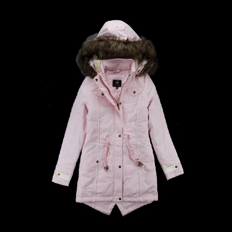 Brave Soul Pink Parka Coat